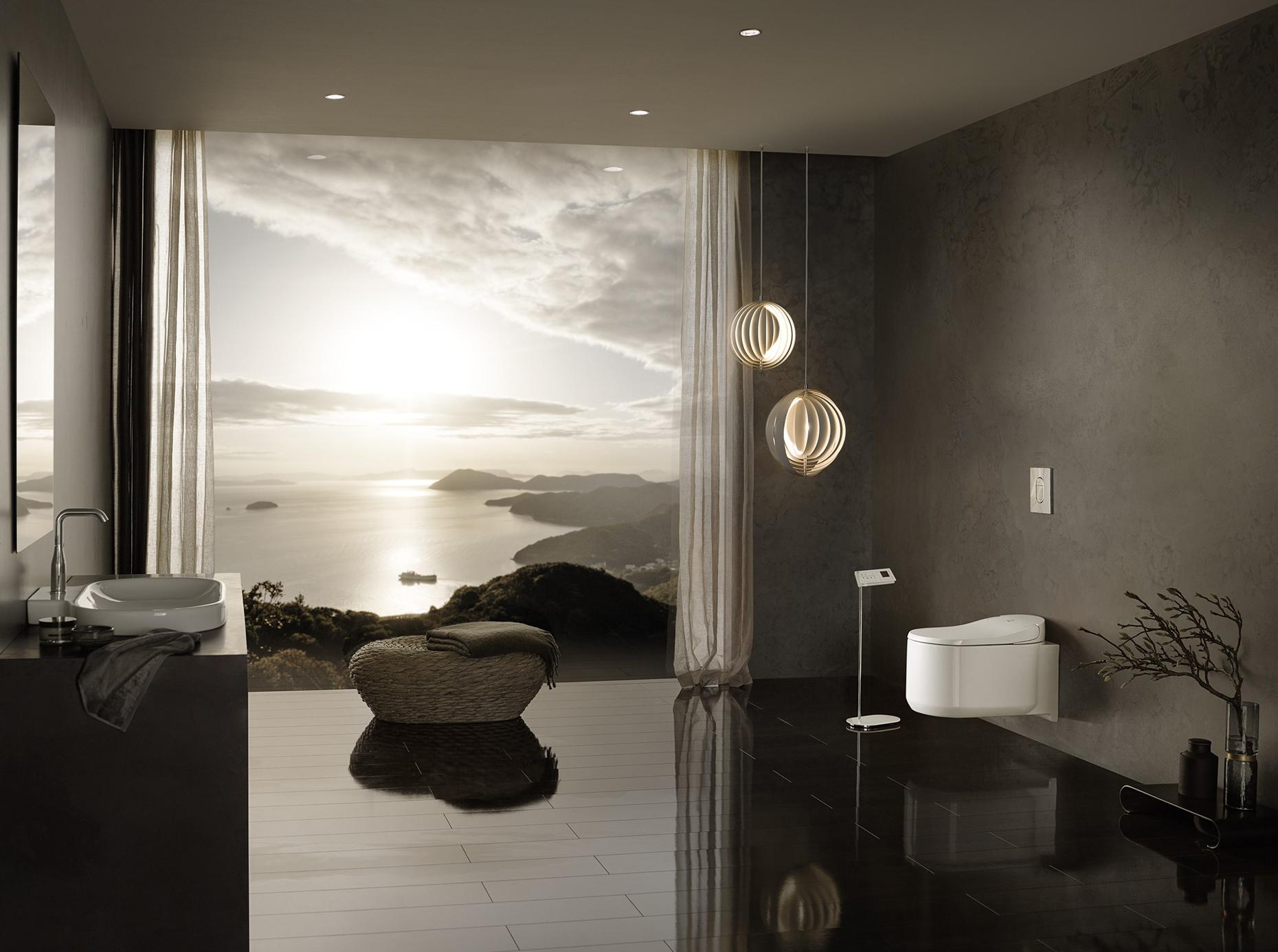 WC intelligent avec douchette, chasse automatique Sensia Arena de GROHE