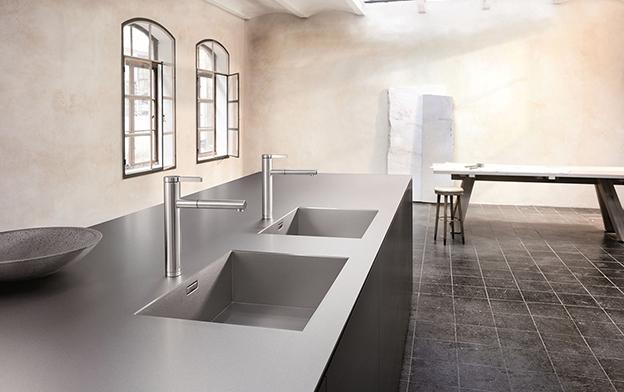 Évier de cuisine moulé dans le plan de travail de BLANCO