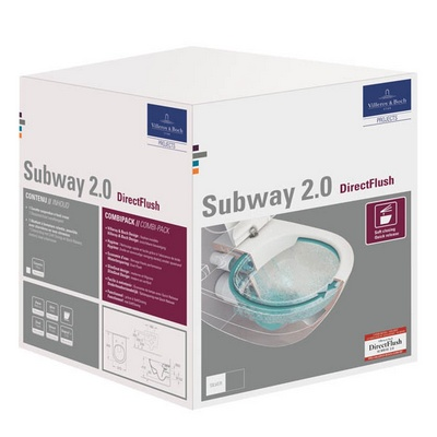 WC suspendu Combipack Directflush Subway