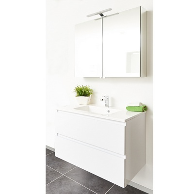 Armoire de toilette finition blanc