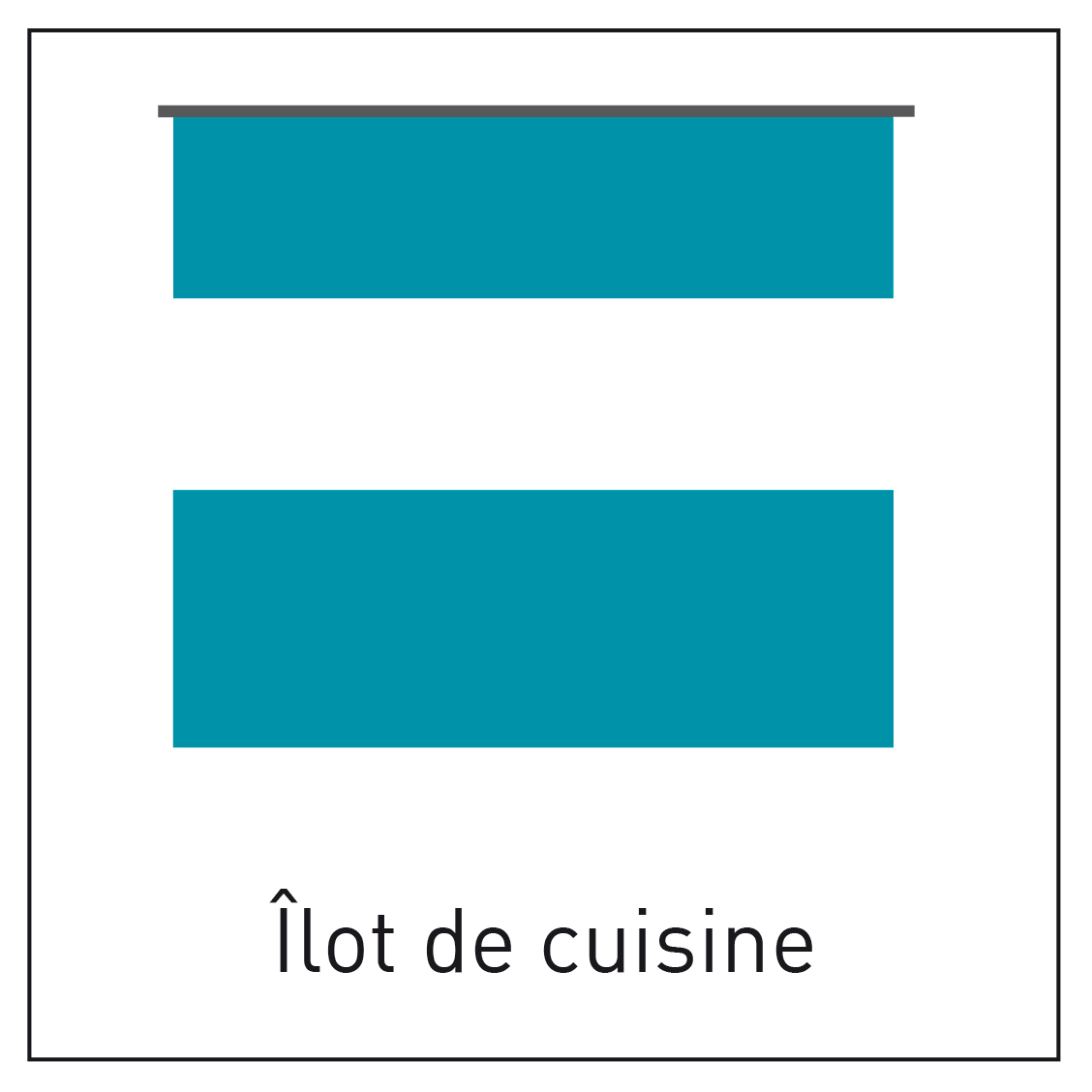 Configuration de cuisine avec un îlot - INDUSCABEL