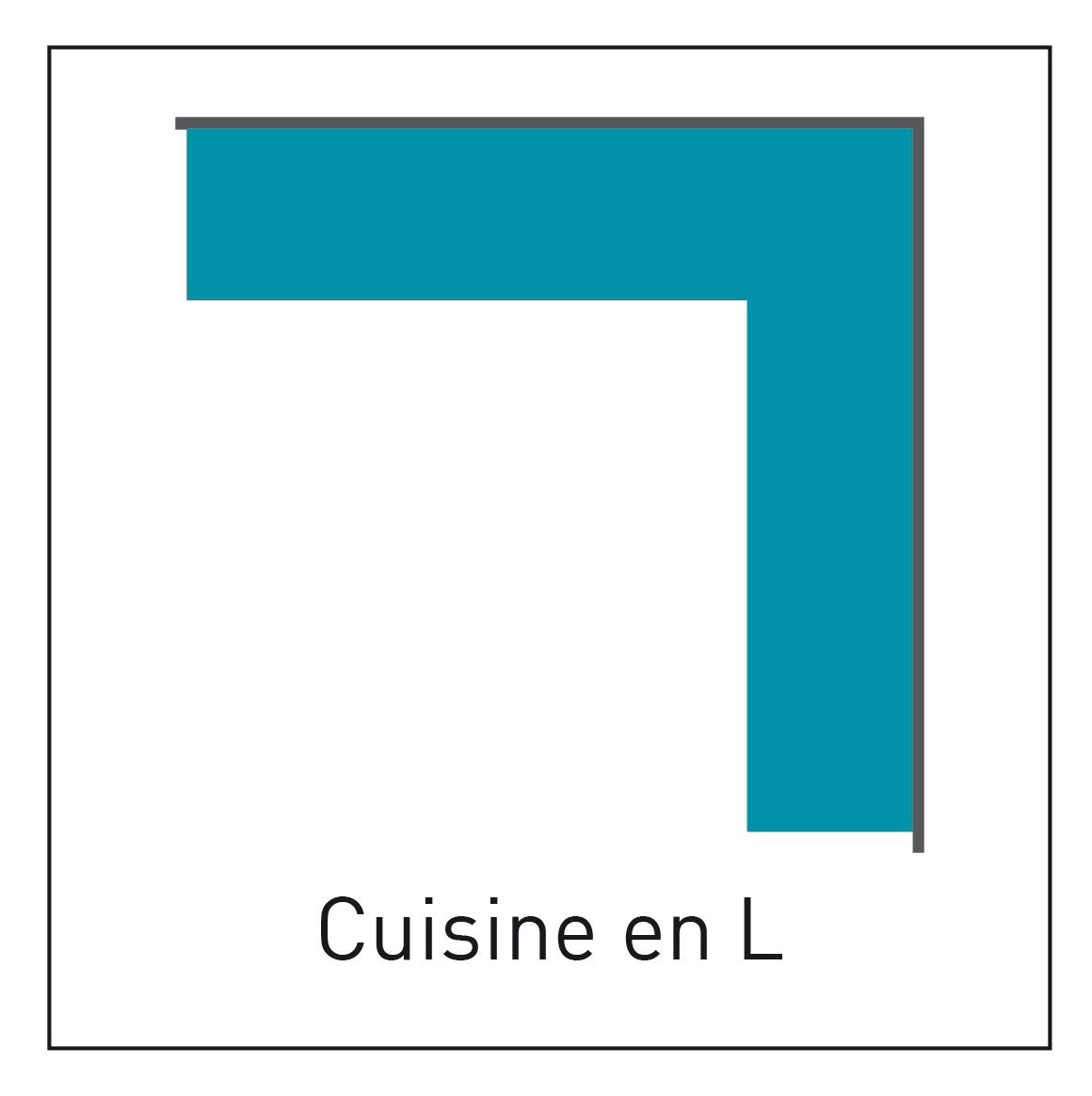 Configuration de cuisine en L - INDUSCABEL