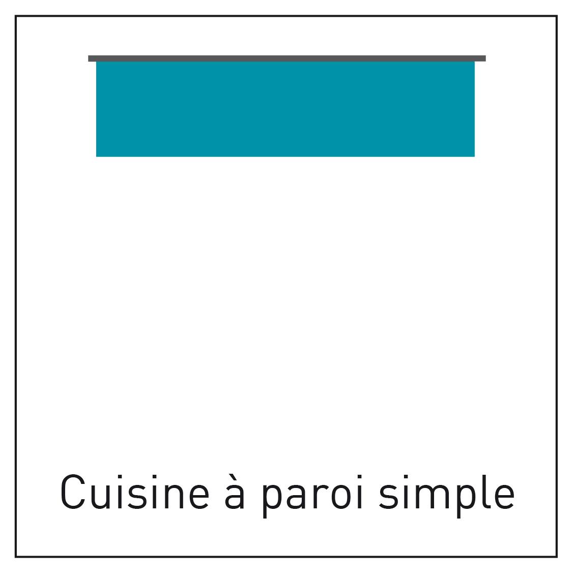 Configuration de cuisine à paroi simple - INDUSCABEL