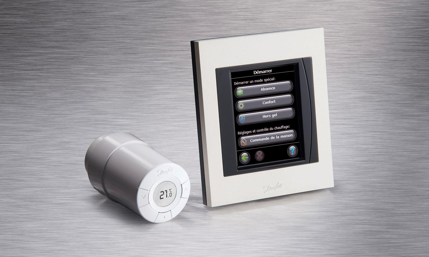 Thermostat et vanne connectés sans fil Living Eco de DANFOSS