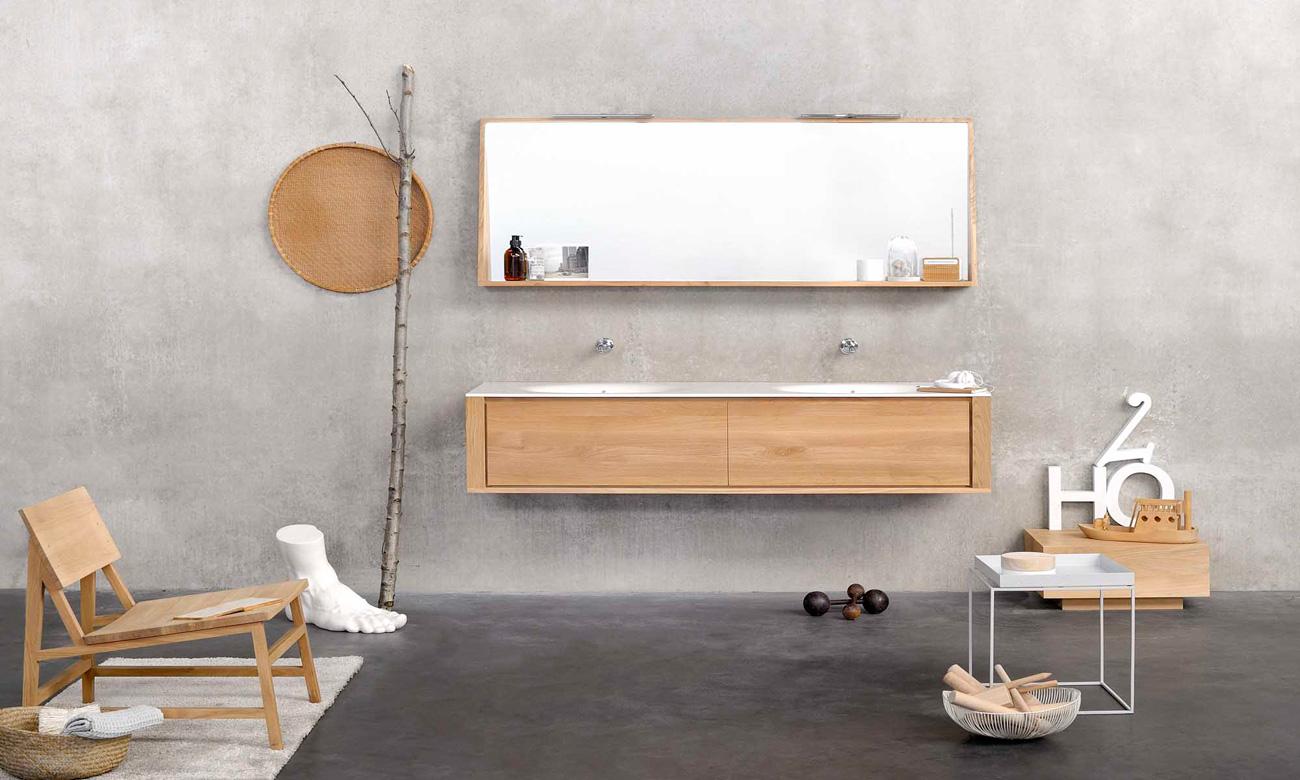 Meubles de salle de bains en bois d'ETHNICRAFT