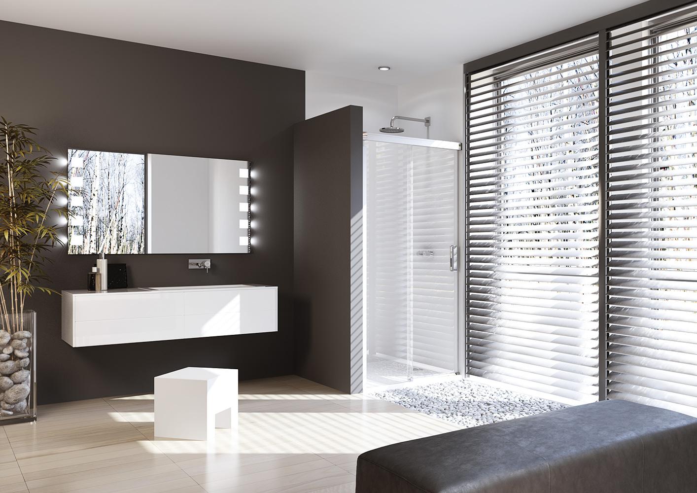 Comment am nager votre salle de bains induscabel for Porte douche huppe