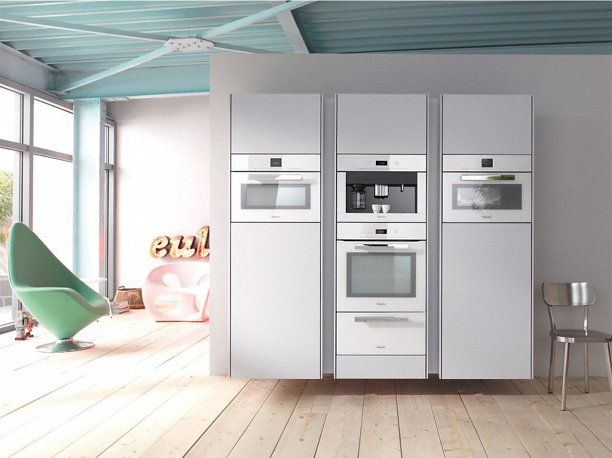 Électroménagers encastrés : Four combiné, machine à espresso, four à micro-ondes, tiroir chauffantMIELE