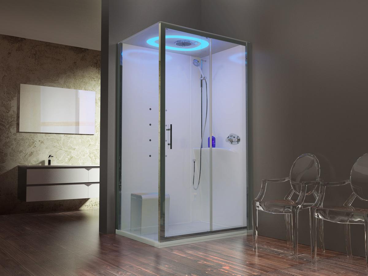 Cabine de douche avec système Hammam Eon de NOVELLINI | Induscabel