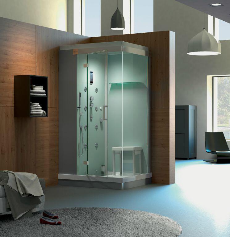 Cabine de douche complète avec jets et siège Kinejet de KINEDO
