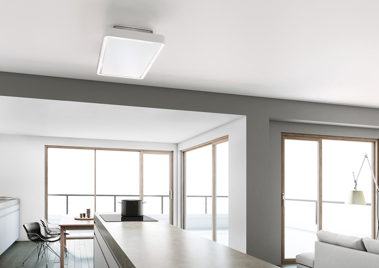 Hotte de plafond et lumière de NOVY