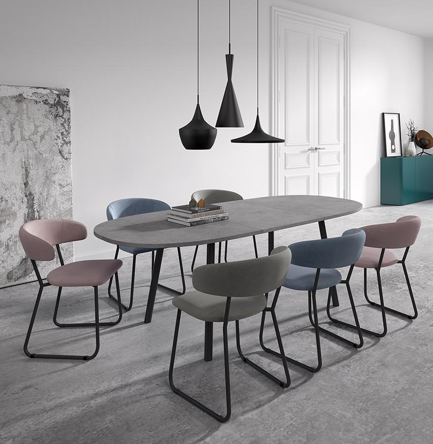 Ensemble table et chaises Rialto & Elba de PERFECTA