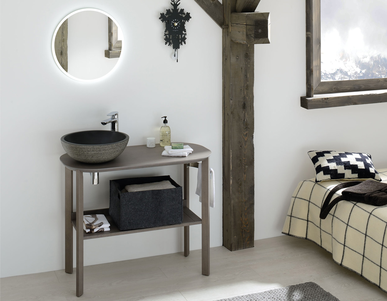 Nos diff rents mod les de meubles de salle de bains for Meuble en coin salle de bain