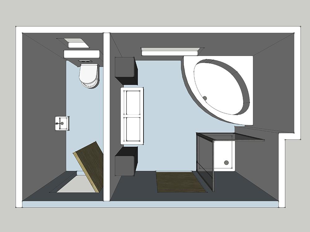 Comment am nager votre salle de bains induscabel for Surface moyenne salle de bain
