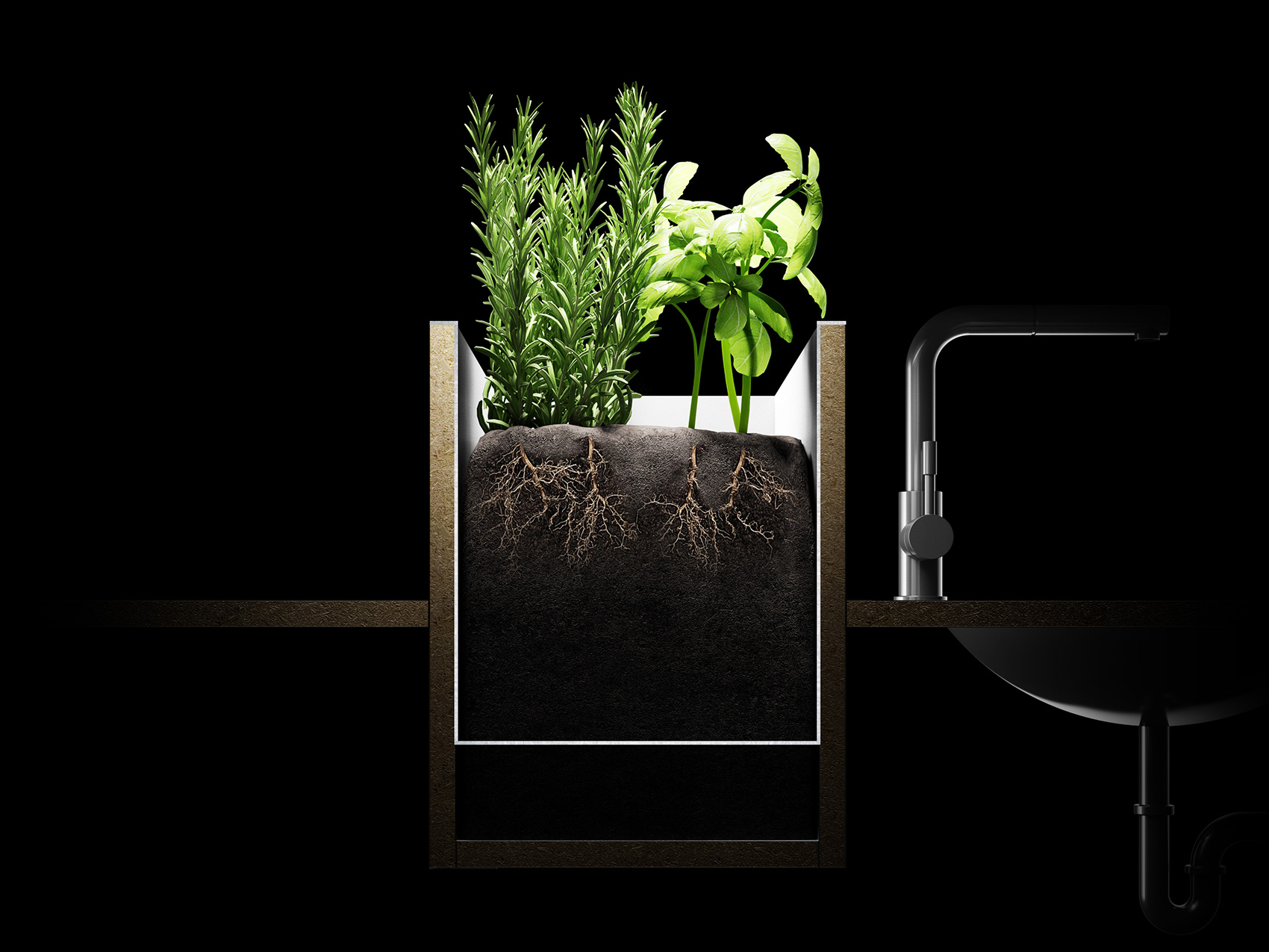 Plantes aromatiques directement dans votre cuisine | Induscabel