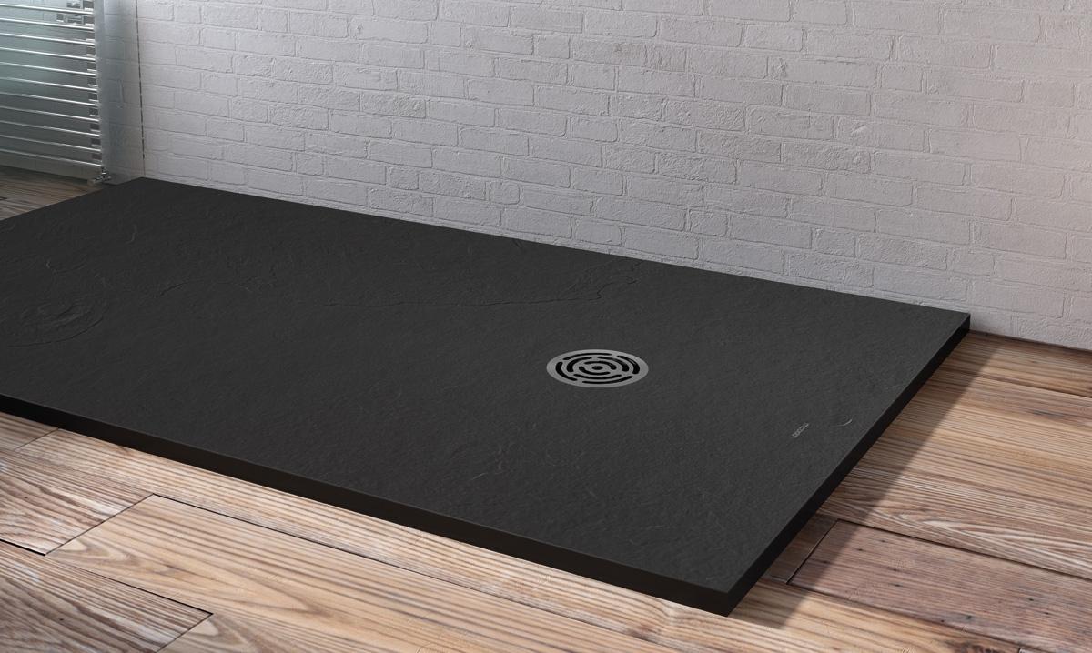 receveur de douche centuria slate aquacento induscabel. Black Bedroom Furniture Sets. Home Design Ideas