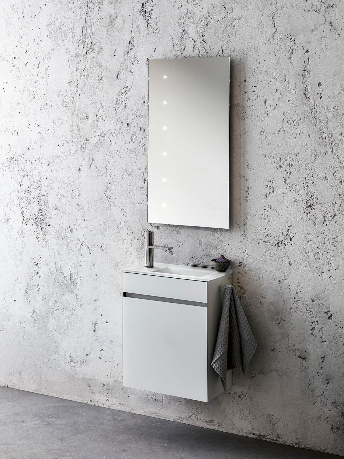 ensemble lave mains et miroir zen artelinea induscabel salle de bains chauffage et cuisine. Black Bedroom Furniture Sets. Home Design Ideas
