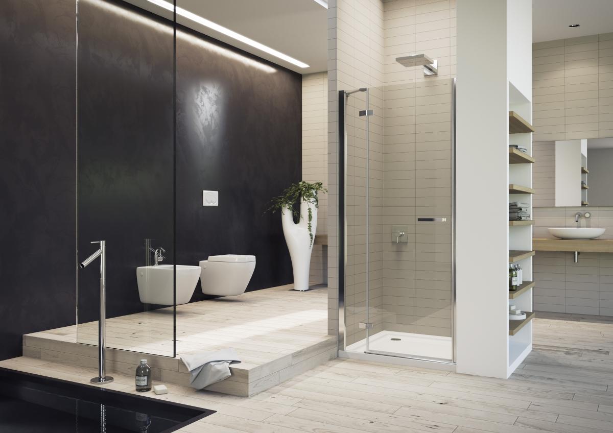 Porte battante de douche gallery 3000 duka induscabel for Porte battante salle de bain
