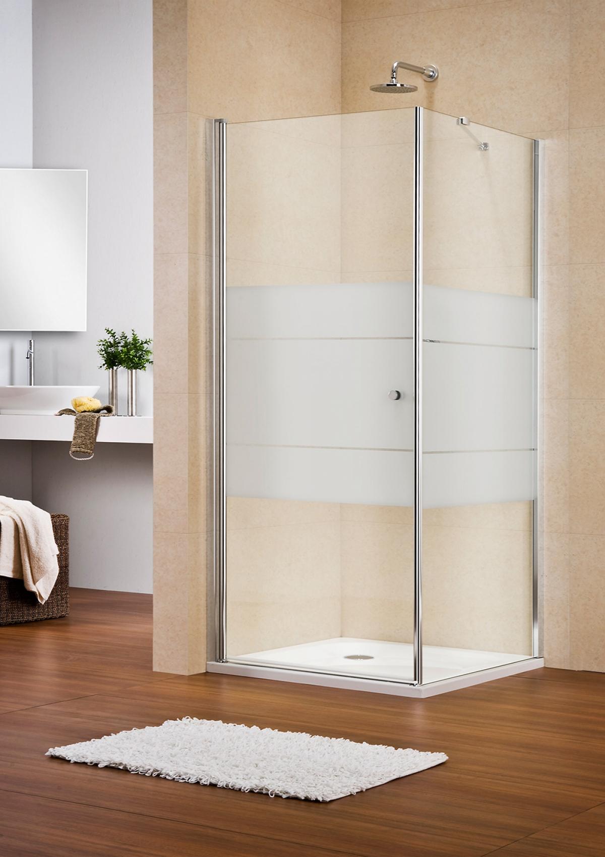 Porte battante de douche multi s 4000 duka induscabel for Porte battante salle de bain
