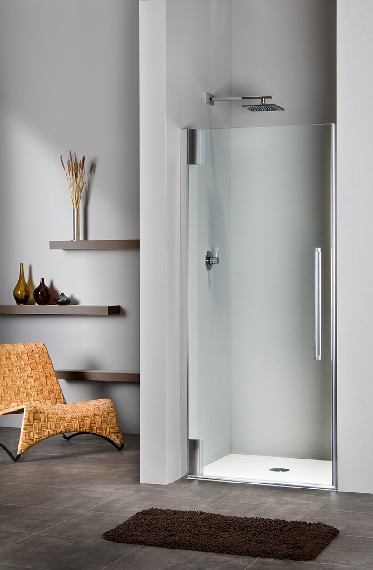 Porte battante de douche princess 4000 duka induscabel for Porte battante salle de bain