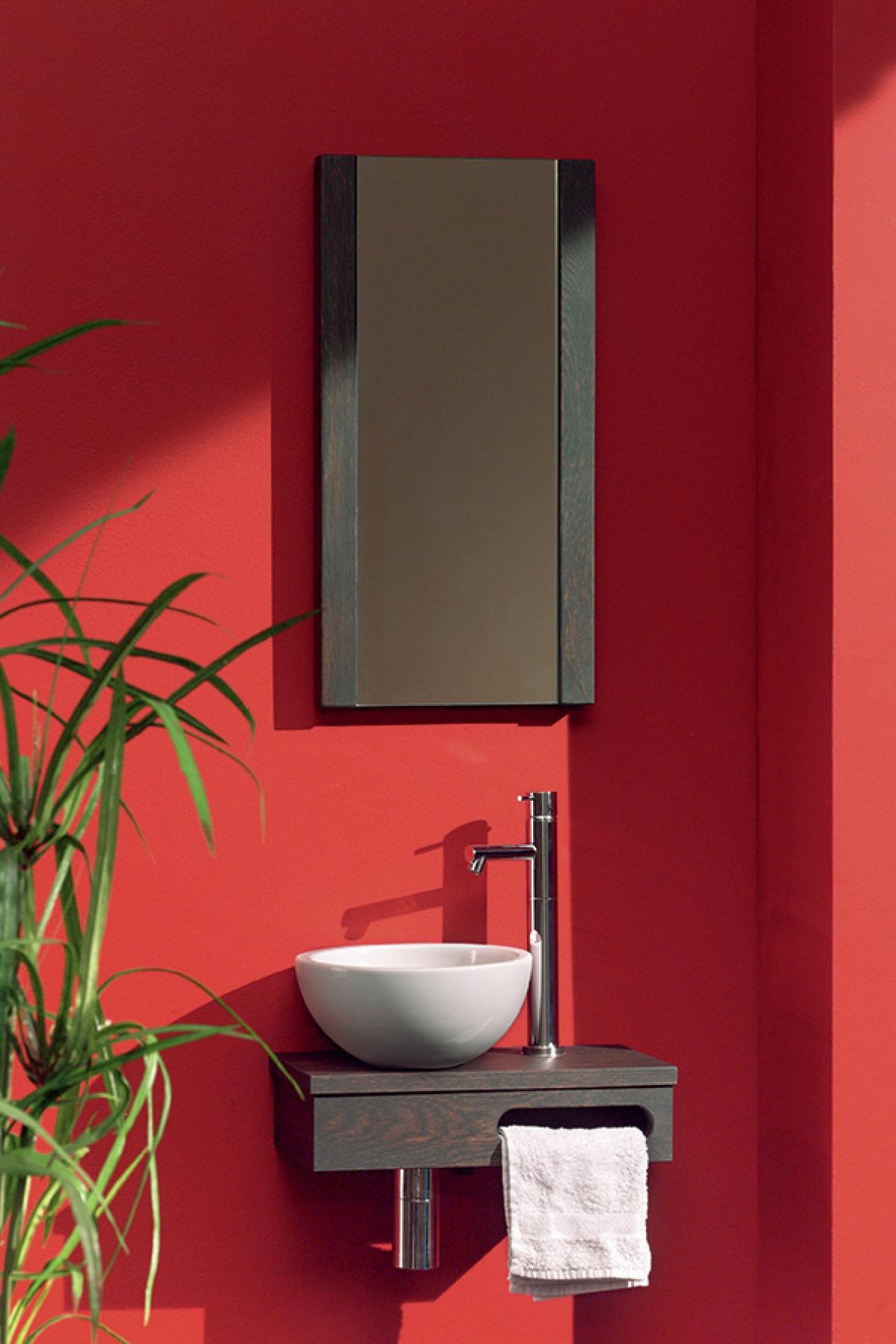 ensemble lave mains et miroir nano f f induscabel salle de bains chauffage et cuisine. Black Bedroom Furniture Sets. Home Design Ideas
