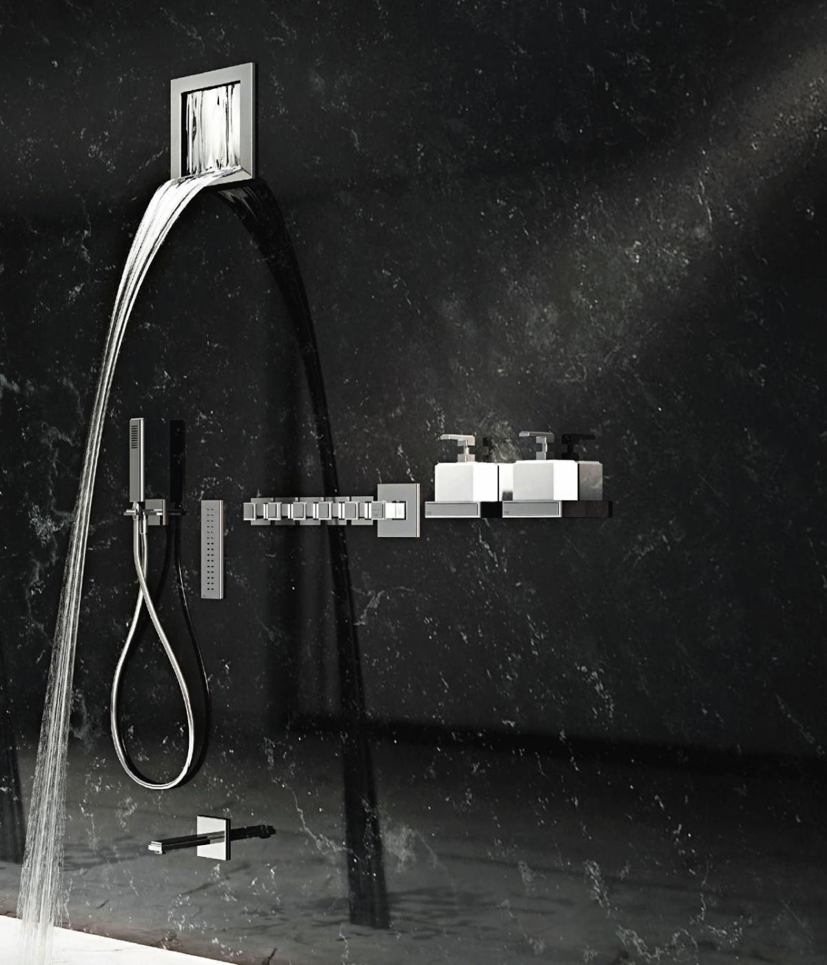 robinetterie de douche cascada gessi induscabel salle. Black Bedroom Furniture Sets. Home Design Ideas