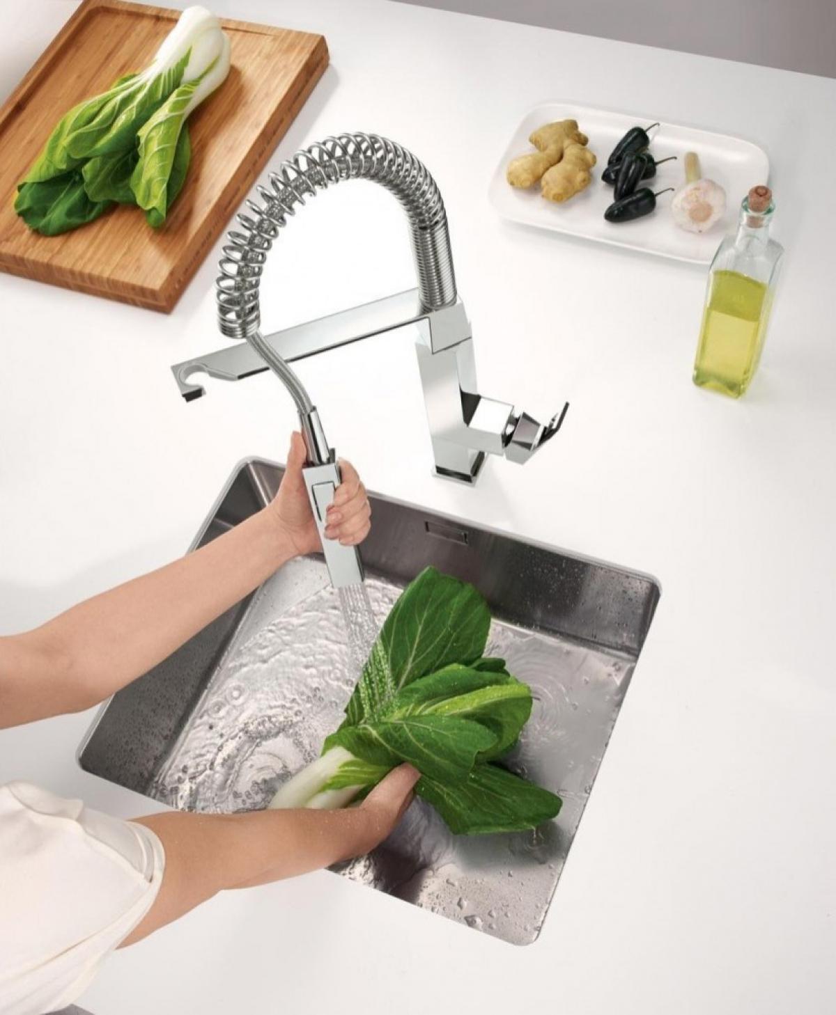 Mitigeur eurocube grohe induscabel salle de bains chauffage et cuisine - Robinetterie cuisine professionnelle ...