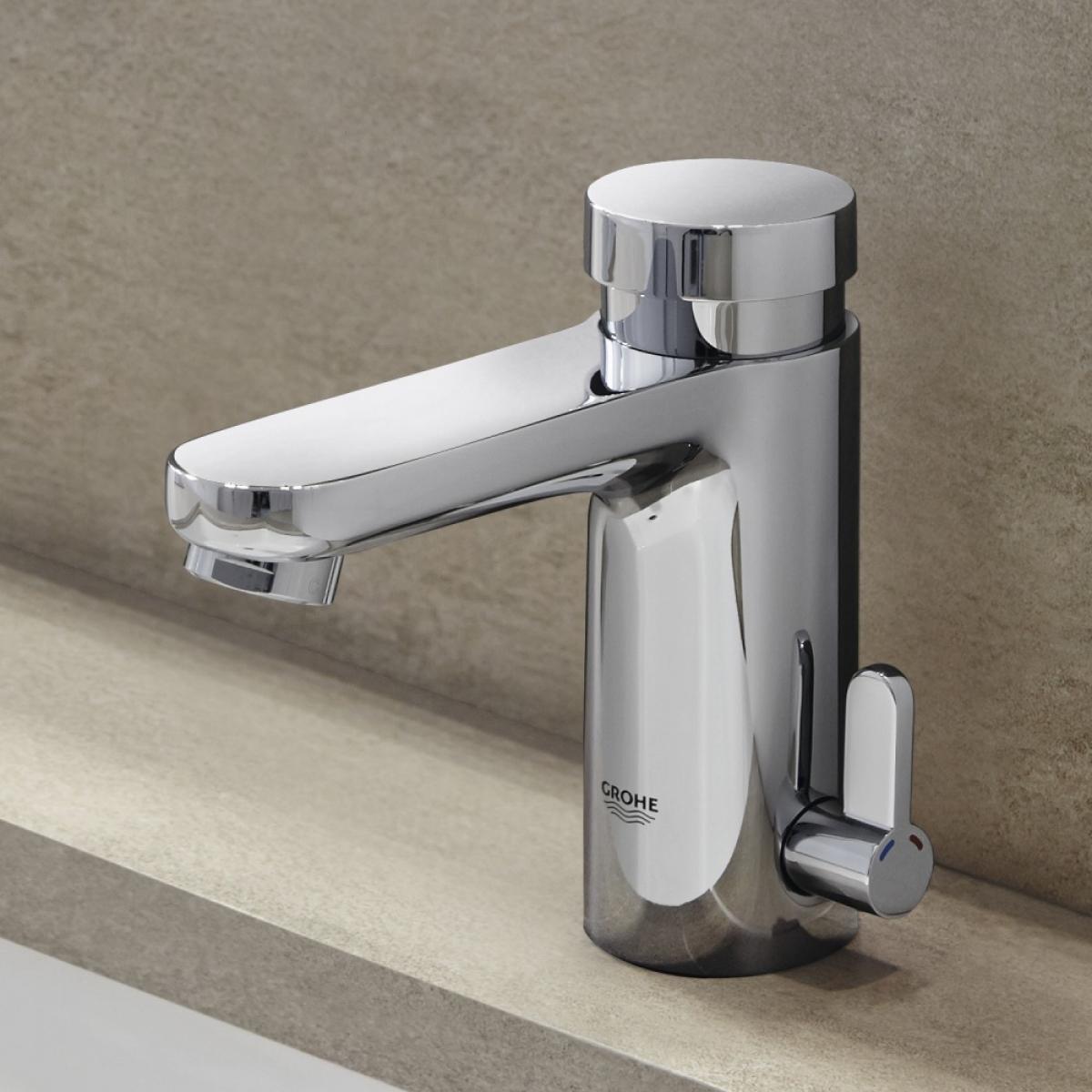 Robinet fermeture temporis e eurosmart cosmopolitan e for Prix robinet grohe salle de bain