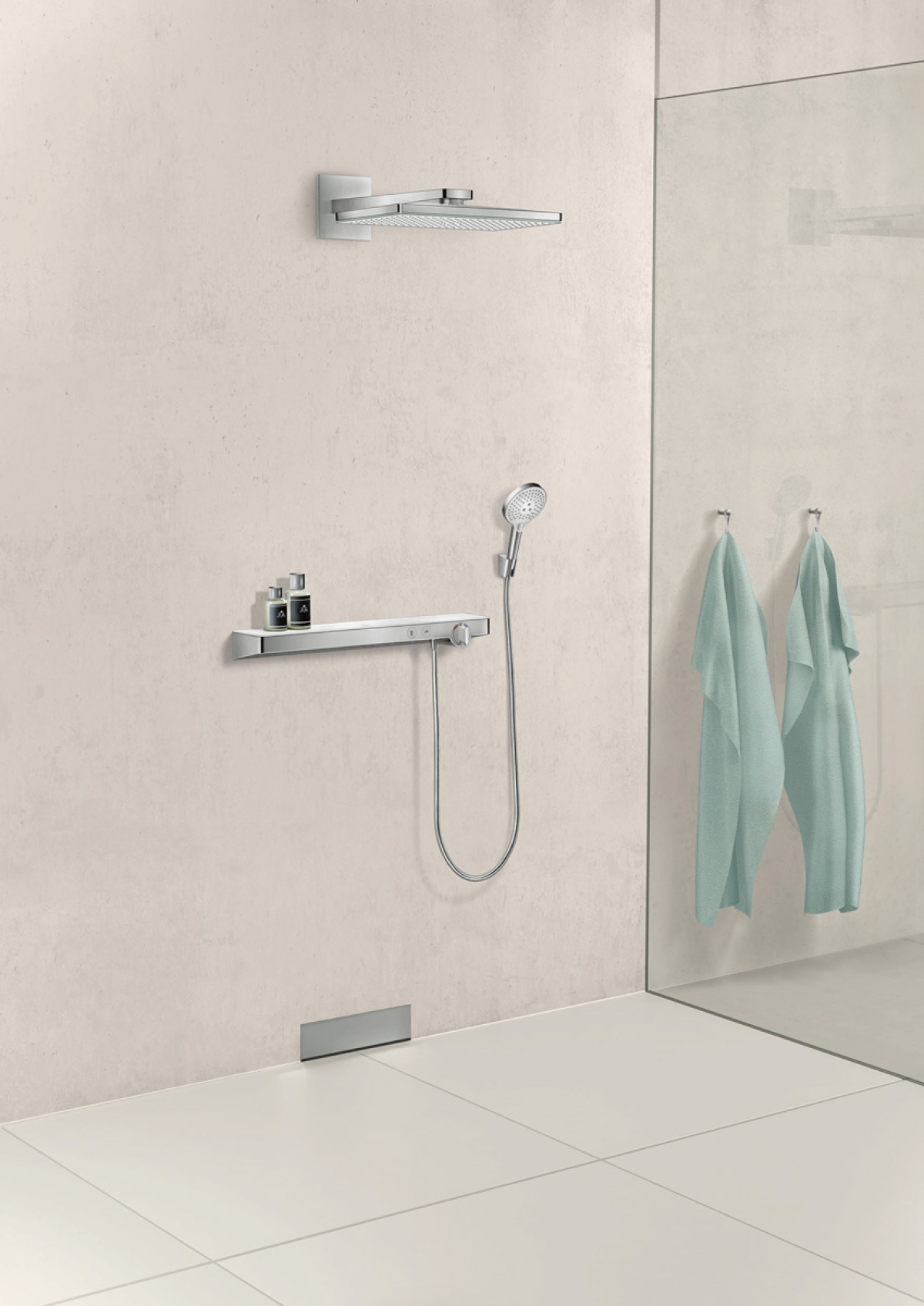 mitigeur thermostatique de douche showertablet hansgrohe induscabel salle de bains. Black Bedroom Furniture Sets. Home Design Ideas