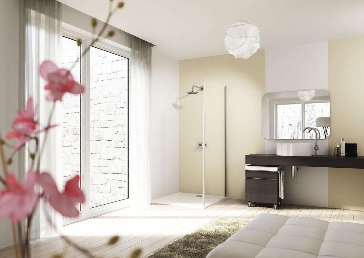 paroi de douche design elegance pure huppe induscabel. Black Bedroom Furniture Sets. Home Design Ideas