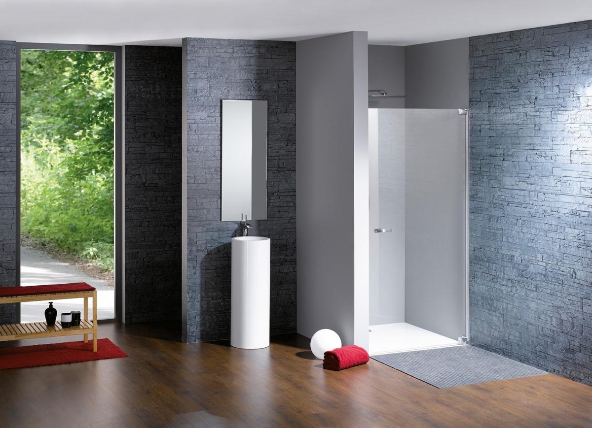 Porte battante de douche studio paris elegance huppe - Porte douche battante ...