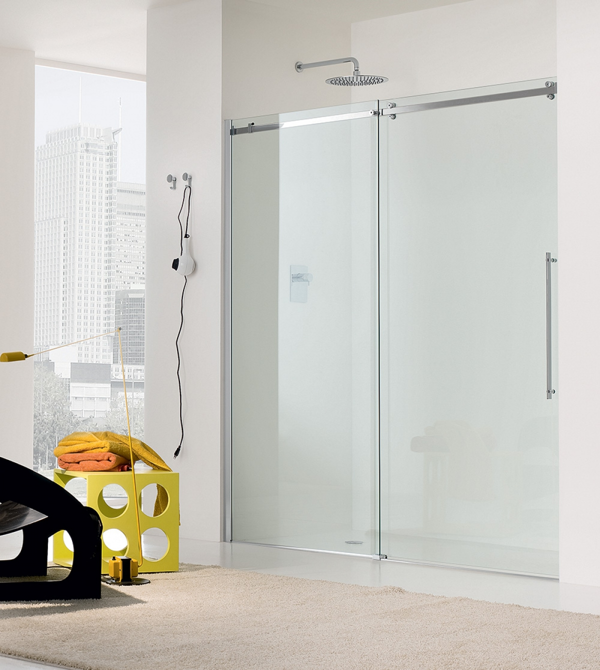porte coulissante de douche air 8000 inda induscabel
