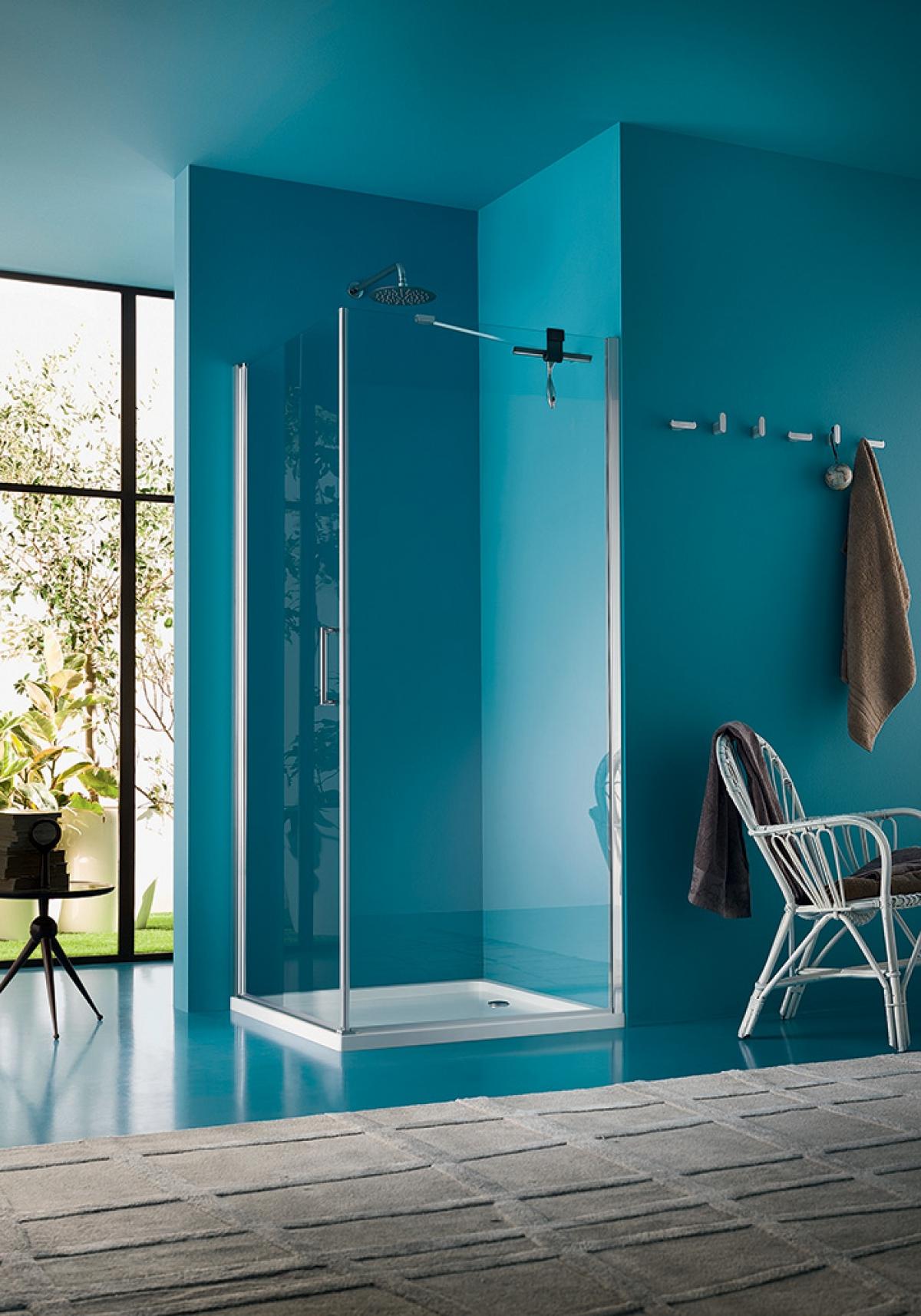 Porte et paroi de douche clair design inda induscabel for Porte de douche design