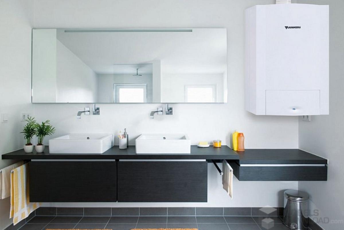 Chaudi re murale au gaz condensation cerapur acu junkers induscabel salle de bains - Condensation salle de bain ...