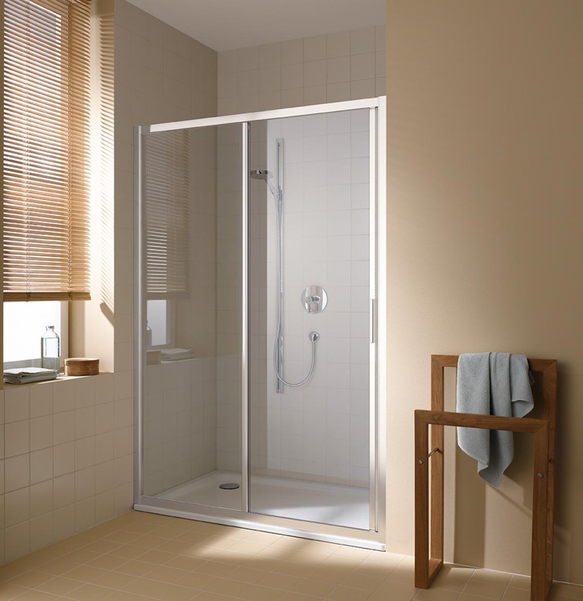 porte coulissante de douche cadax s kermi induscabel salle de bains chauffage et cuisine. Black Bedroom Furniture Sets. Home Design Ideas