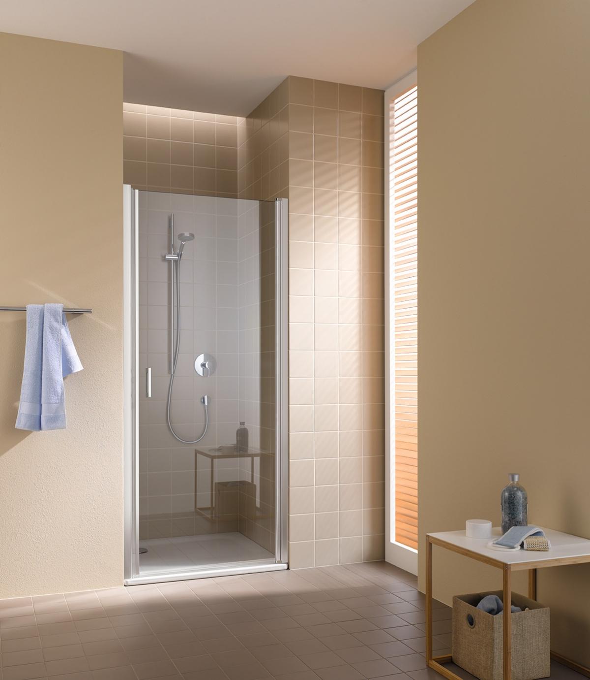 porte battante de douche cadax s kermi induscabel salle de bains chauffage et cuisine. Black Bedroom Furniture Sets. Home Design Ideas