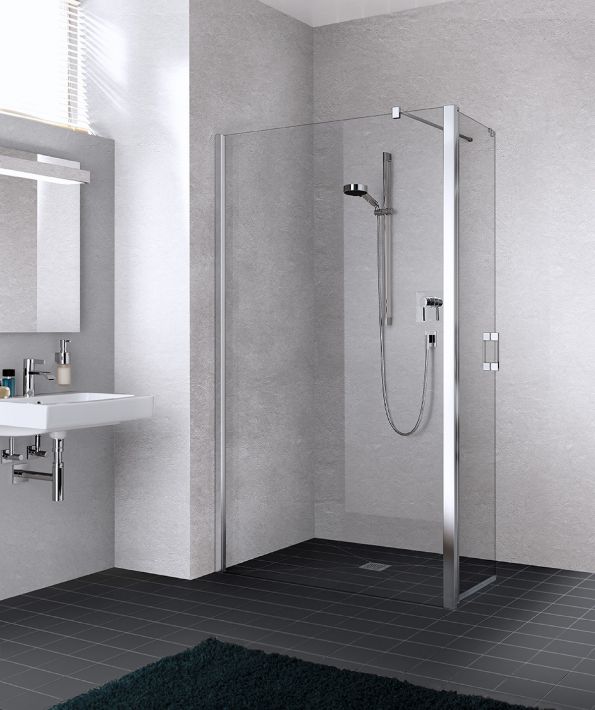 paroi de douche walkinliga kermi induscabel salle de bains chauffage et cuisine. Black Bedroom Furniture Sets. Home Design Ideas