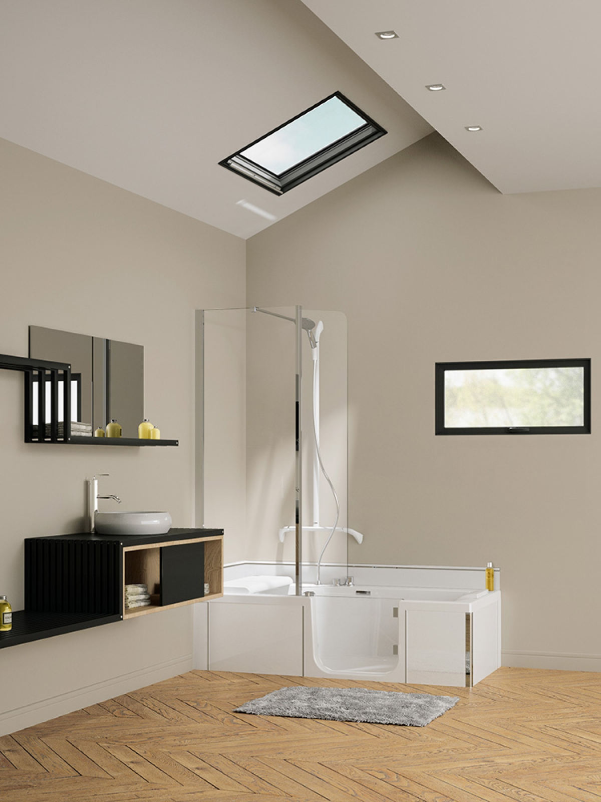 baignoire douche duo kinedo induscabel salle de bains chauffage et cuisine. Black Bedroom Furniture Sets. Home Design Ideas