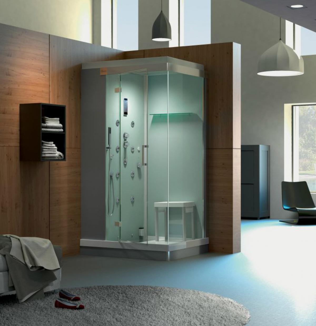cabine de douche avec jets kinejet kinedo induscabel. Black Bedroom Furniture Sets. Home Design Ideas