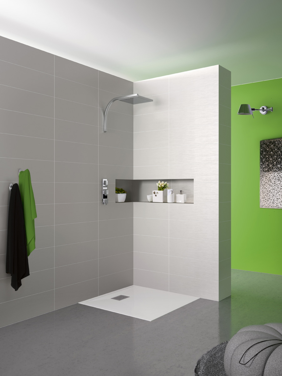 Receveur de douche kinesurf kinedo induscabel salle de bains chauffage et cuisine - Receveur de douche kinedo kinesurf ...