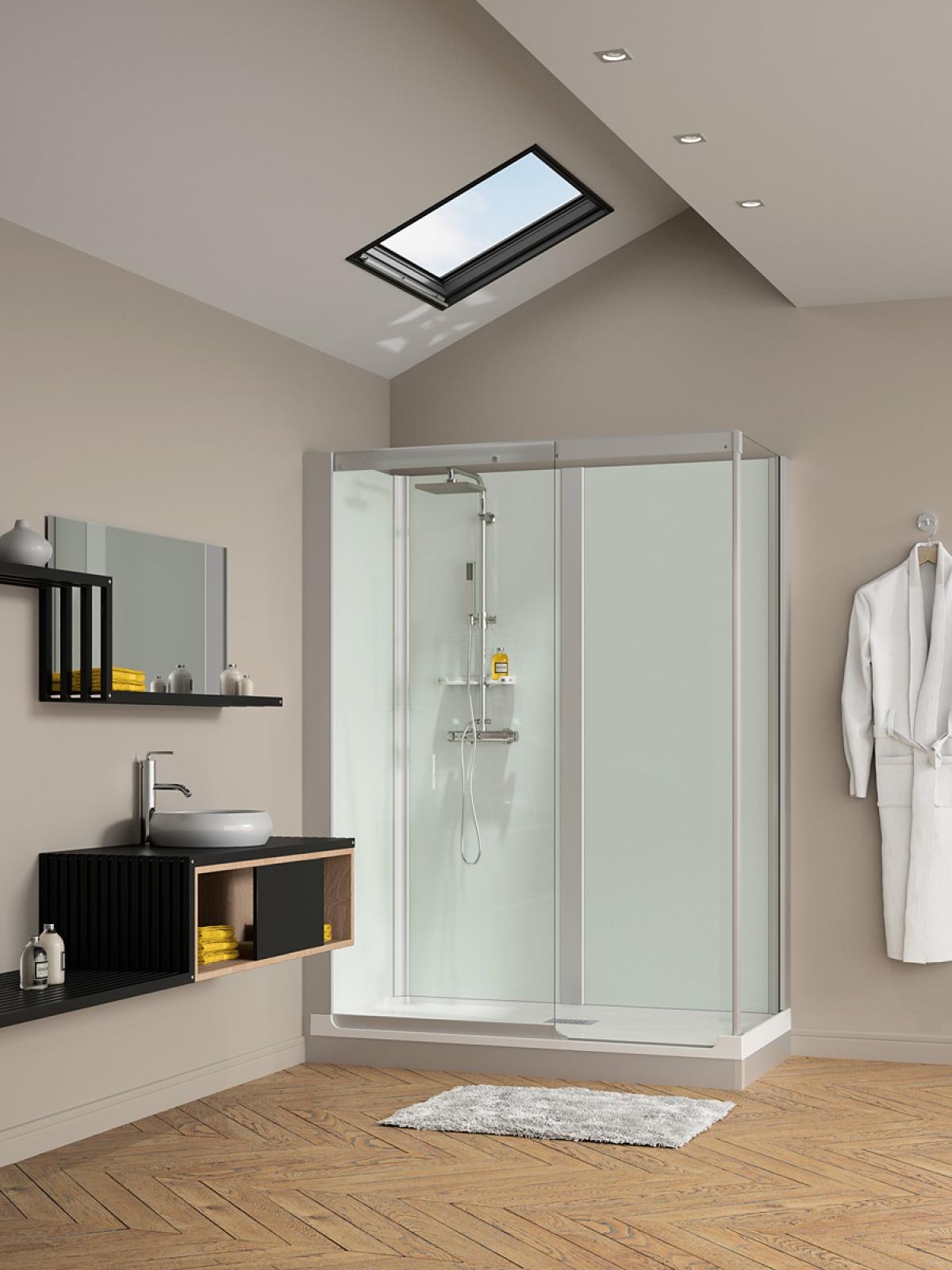 cabine de douche kinemagic design kinedo induscabel salle de bains chauffage et cuisine. Black Bedroom Furniture Sets. Home Design Ideas