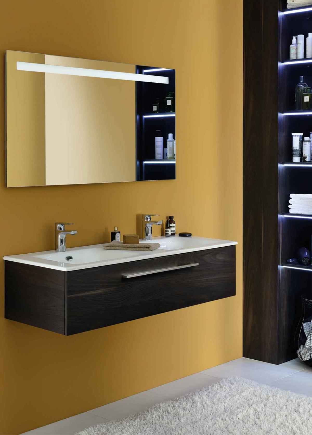 meubles et table vasque halo sanijura induscabel salle de bains chauffage et cuisine. Black Bedroom Furniture Sets. Home Design Ideas