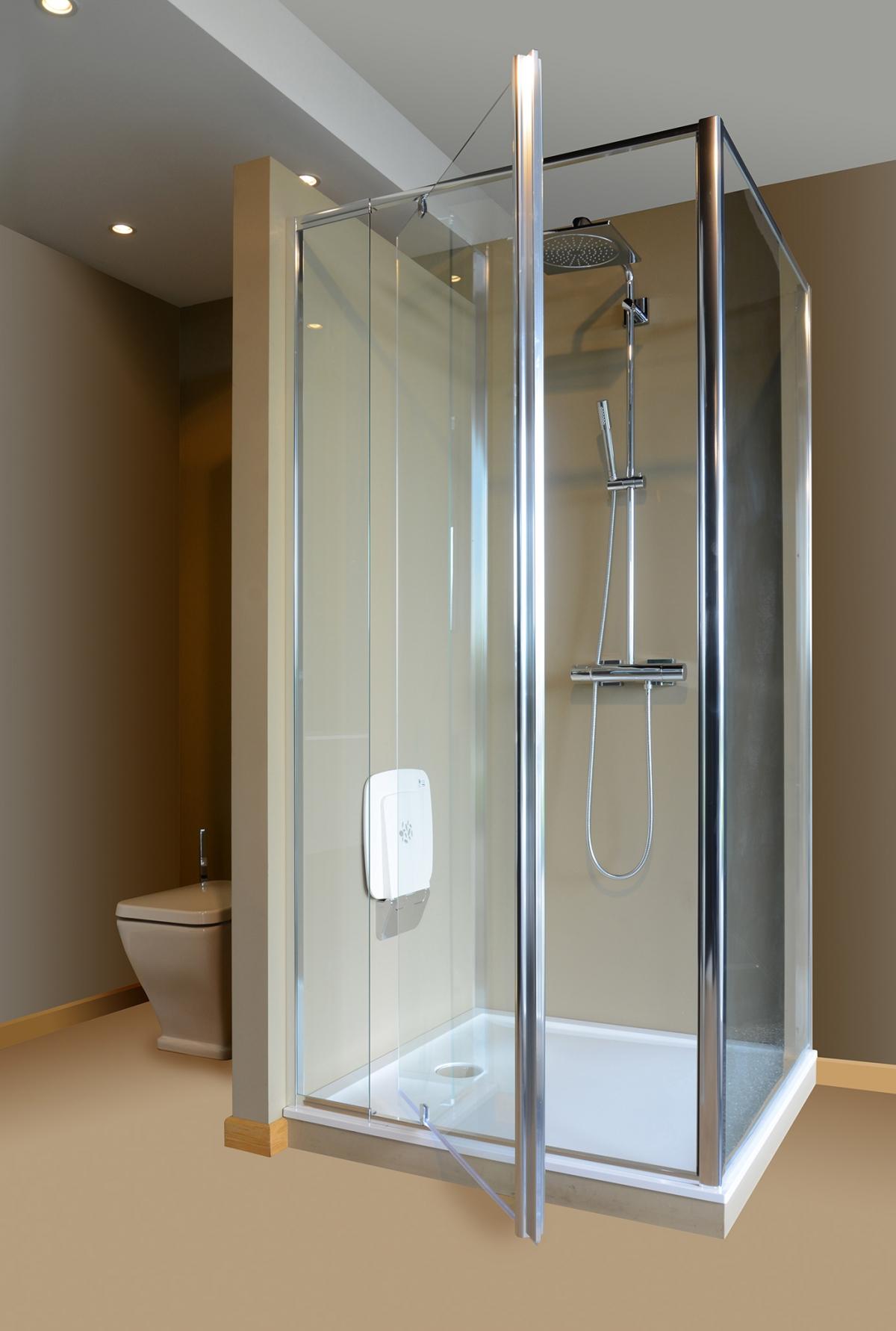 porte pivotante et paroi de douche flexlight zenid induscabel salle de bains chauffage et. Black Bedroom Furniture Sets. Home Design Ideas