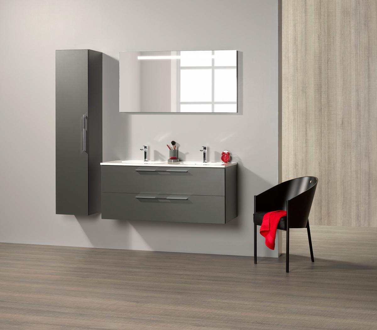 Meubles de salle de bains vara zenid induscabel salle - Meuble de cuisine dans salle de bain ...