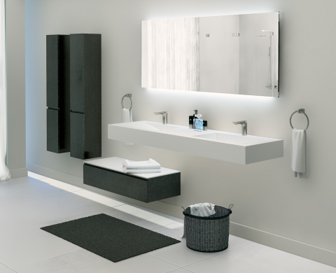 Meuble et table vasque Pure White - AQUACENTO