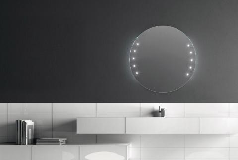 Miroir avec lumières LED integrées Argento - ARTELINEA
