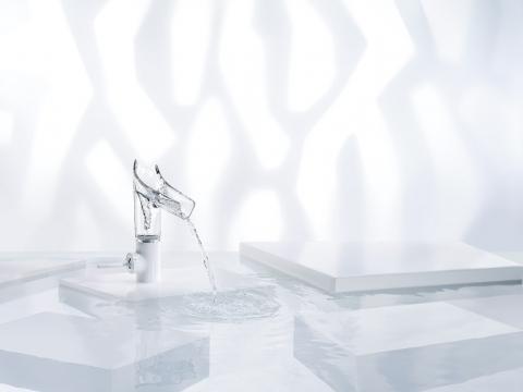 Robinet transparent pour lavabo ou vasque Starck V - AXOR