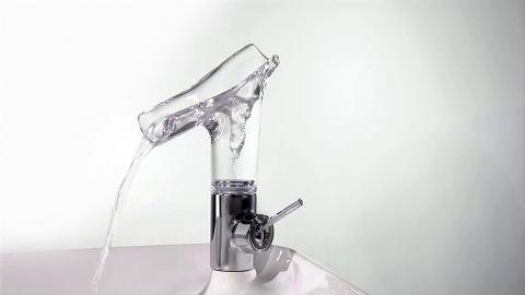 Mitigeur lavabo en verre transparent Starck V - AXOR