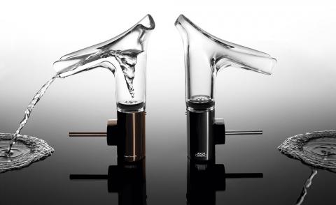 Robinetterie transparente lavabo/vasque Starck V - AXOR