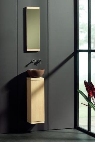 Ensemble lave-mains et miroir Totem - F&F