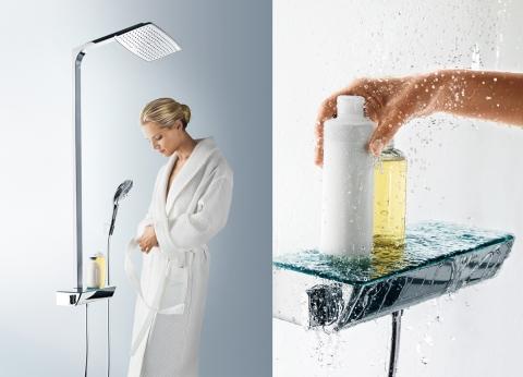 Robinetterie de douche RainDance & Mitigeur thermostatique ShowerTablet Select - HANSGROHE